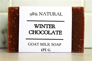 Winter Chocolate Goat Milk Soap - Large Bar 175 g