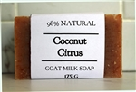 EXTRA LARGE BAR - Coconut Citrus Goat Milk Soap - 175 g (6.2 oz)