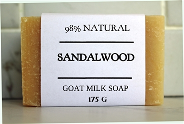 Sandalwood Goat Milk Soap - EXTRA LARGE Bar 175 g