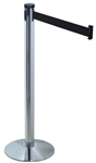 Single Line Crowd Control Post w/Black ABS Covered Base 10FT