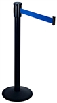 Single Line Crowd Control Post w/Black ABS Covered Base 15 FT