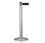 Retractable Belt Stanchion - Model: Beltrac 40701/02 Contempo Stainless 7' Belt