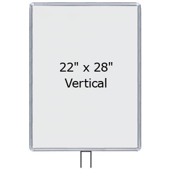 Large 22 X 28 Radius Corner Sign Frame For 7 Beltrac Stanchions