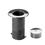 "Floor Socket and Cap with 1/4"" Flange Lip (For Lavi Rope Stanchions) - Model 544/2"