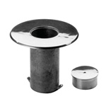 "Floor Socket and Cap with 1-1/2"" Flange Lip (For Lavi Rope Stanchions) - Model 545/2"