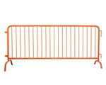 Steel Barricade With Bridge Feet - Orange 8'4""