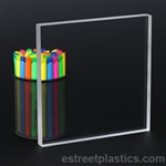 "6"" x 12"" - Clear Acrylic Plexiglass Sheet - 1/2'' Thick Cast"