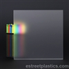 "Frosted Plexiglass (colorless, frosted one side)  -  1/2"" Thick - 6"" x 12"""