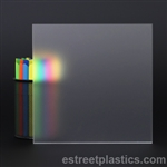 "Frosted Plexiglass (colorless, frosted one side)  -  1/2"" Thick - 12"" x 36"""