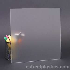 "1//4/""  2064 Transparent Light Gray Cell Cast Acrylic Sheet  12/"" x 12/"""