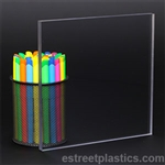 "12"" x 48"" - Clear Polycarbonate Lexan Sheet - 3/8"" Thick"