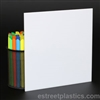 "1/8"" x 6"" x 12"" - White Polycarbonate Lexan UV Resistant 1 Side"