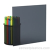 "1/4"" x 12"" x 12"" - Transparent Grey Smoked Polycarbonate Lexan (Dark)"