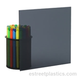 "1/8"" x 12"" x 12"" - Transparent Grey Smoked Polycarbonate Lexan (Dark)"