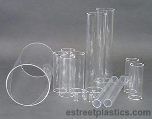 Clear 11-7//8 Length x 1//2 ID 5//8 OD 1//16 Wall Pack of 3 Nominal Acrylic Extruded Tube Square
