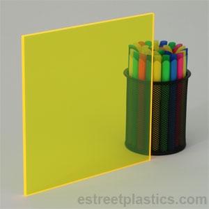 Acrylic Fluorescent Yellow 5mm 210 x 297