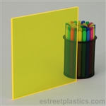 Sample Chip - Fluorescent Plexiglass Acrylic - Yellow