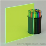 Sample Chip - Fluorescent Plexiglass Acrylic - Green