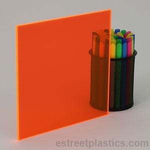 "Red Transparent Acrylic Plexiglass sheet 1//8"" x 24/"" x 24/"" #2423"