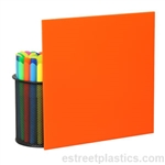 Sample Chip - Orange Plexiglass Acrylic - #2119