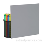 Sample Chip - Grey Plexiglass Acrylic - (opaque/solid)