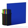 "1/4"" x 6"" x 12"" Transparent Blue Plexiglass Acrylic Sheet - #2424"