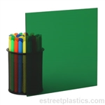 "3/16"" x 12"" x 12"" Transparent Green Plexiglass Acrylic Sheet - #2092"
