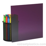 "1/8"" x 24"" x 36"" Transparent Purple Plexiglass Acrylic Sheet (DARK) - #3730"