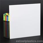 "1/2"" x 12"" x 12"" - White Plexiglass Acrylic Sheet - #7328"