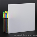 "3/8"" x 12"" x 12"" - White Plexiglass Acrylic Sheet - #2447"