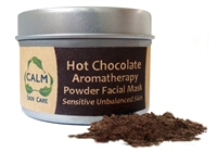 CALM Natural Eco Friendly Skin Care Hot Chocolate Aromatherapy Powder Facial Mask