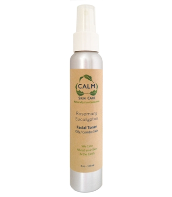 CALM Natural Eco Friendly Skin Care Rosemary Eucalyptus Facial Toner