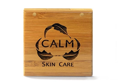 CALM Natural Eco Friendly Skin Care Eye Neck Serum Makeup Remover Bamboo Compact