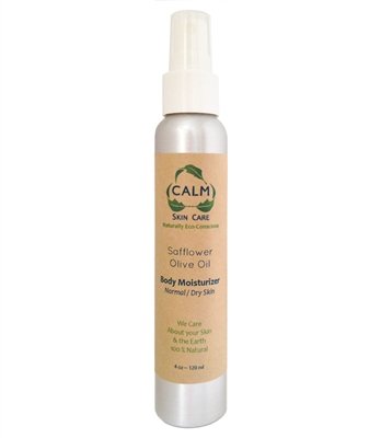 CALM Natural Eco Friendly Skin Care Olive Oil Body Moisturizer Lotion