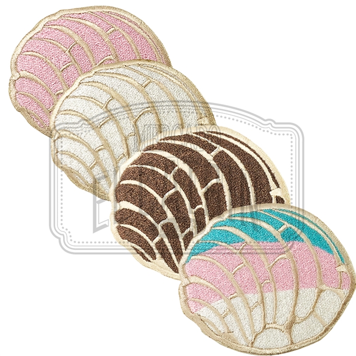 Pan Dulce Concha Embroidered Patch