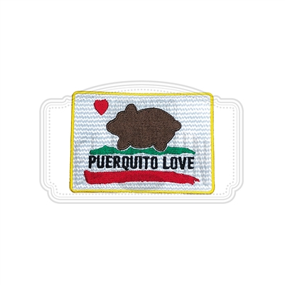 Puerquito Love Embroidered Patch