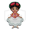 """Huesteca"" Traditional Dress Wooden Magnet"