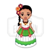 """Campechana"" Traditional Dress Wooden Magnet"