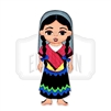 """Taliman"" Traditional Dress Wooden Magnet"