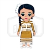 """Tamaulipas"" Traditional Dress Wooden Magnet"