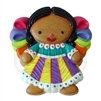 """Muneca Otomi"" (Cookie) Clay Magnet"