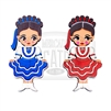 """Chihuahua"" Traditional Dress Wooden Magnet"