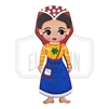 """Nayarit"" Traditional Dress Wooden Magnet"