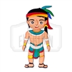 """Hombre Maya"" Traditional Style Wooden Magnet"