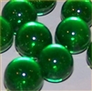 14mm Transparent Green Marbles 1 lb Approximately 120 Marbles