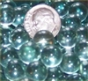 GR Clear 10mm Micro Round Marbles 44 lbs GREEN TINT