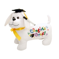 "11"" STANDING GRADUATION PUPPY W/SHARPIE (1)"