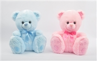 12'' PINK & BLUE TEDDY BEAR (2)