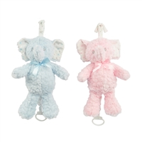 "13"" LIL"" BABY ELEPHANT MUSICAL PULL STRING W/LULLABY (2)"
