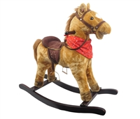 "29"" DALLAS GOLD ROCKING HORSE W/SOUND (ASSEMBLED)<b class='icon-new-product'></b>"